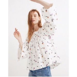 Madewell Floral Patterned Blouse NWT